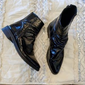 Black Patent Free People Boots